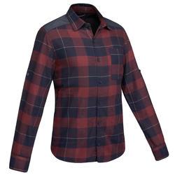 TRAVEL 100 男式保暖衬衫 - 暗红色