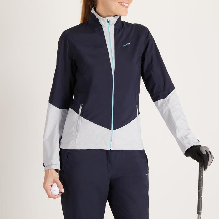 高尔夫女士雨天夹克-海军蓝和灰色