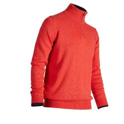 MEN'S CORAL COLD-WEATHER GOLFING PULLOVER