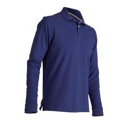 Men's Mild Weather Long Sleeve Golf Polo Shirt - Blue