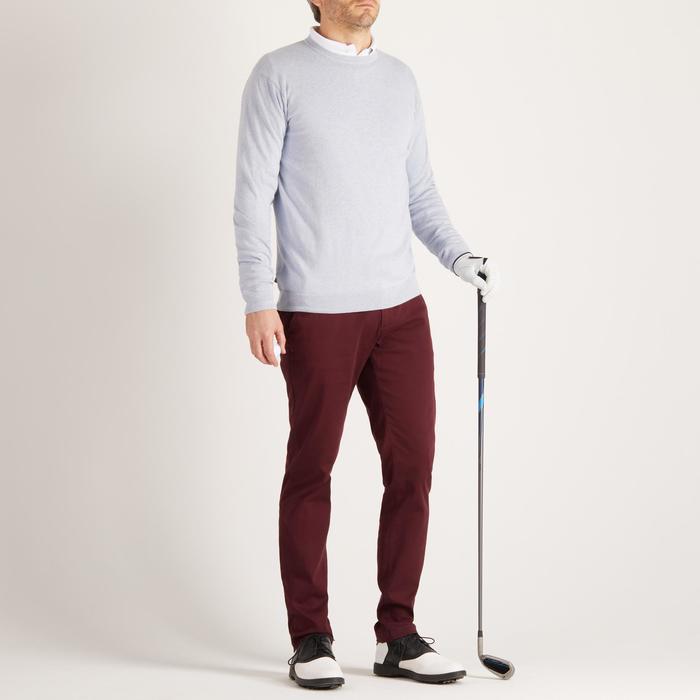 男士高尔夫套头衫-浅灰色