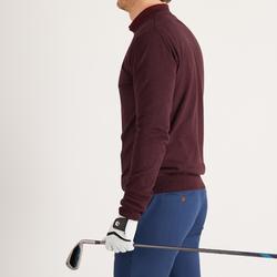 男士高尔夫套头衫-酒红色