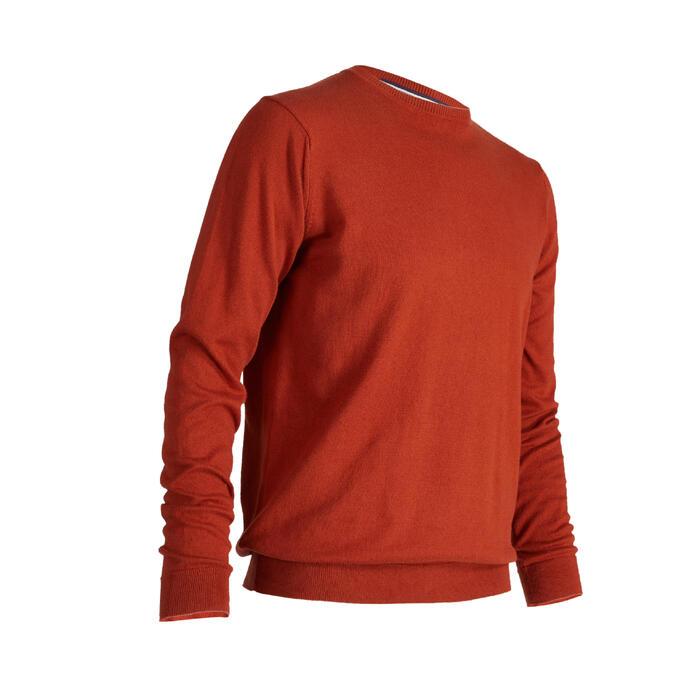 男士高尔夫套头衫-橘红色