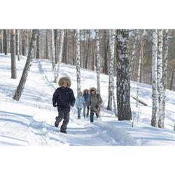 SH100 冬季雪地徒步青少年保暖袜 中帮 - 珊瑚色、灰色