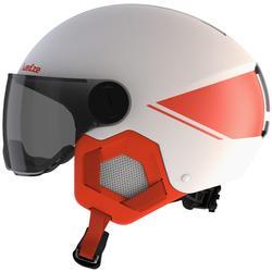 儿童滑雪头盔 D-SKI H-KID 550 - WHITE AND ORANGE