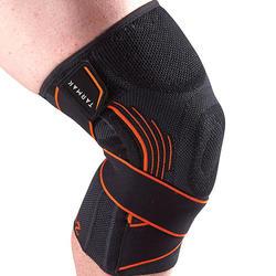 男式/女式左/右护膝Mid 500 - 黑色