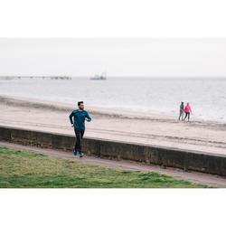 男式跑步运动保暖裤 - 黑色