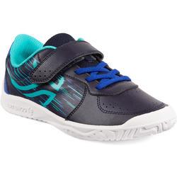 青少年网球鞋TS 130- 蓝黑