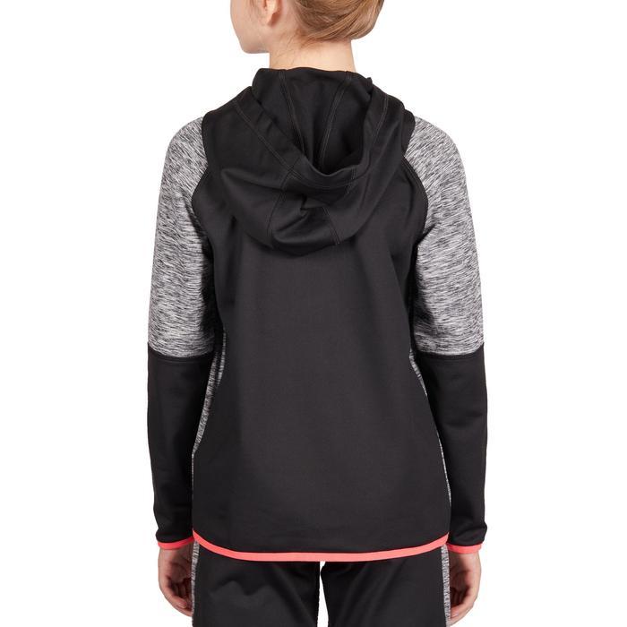 青少年网球保暖夹克500-黑/粉