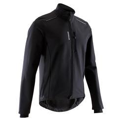 男式公路骑行旅行冬季夹克100-黑色