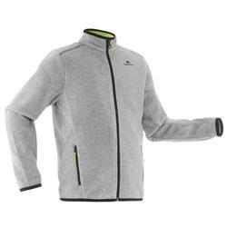 MH150 青少年登山徒步摇粒绒保暖夹克 - 灰色