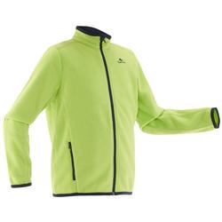 MH150 青少年男款登山徒步摇粒绒夹克 - 绿色