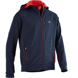 男童青少年体能连帽衫900系列 - 蓝色/红色