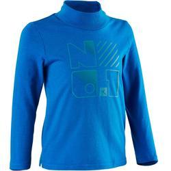 幼童体能长袖T恤100系列- 蓝色印花