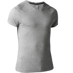 900 Men's Slim-Fit V-Neck Gym T-Shirt - Grey