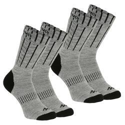 SH100 冬季雪地徒步成人保暖袜 中帮 - 灰色