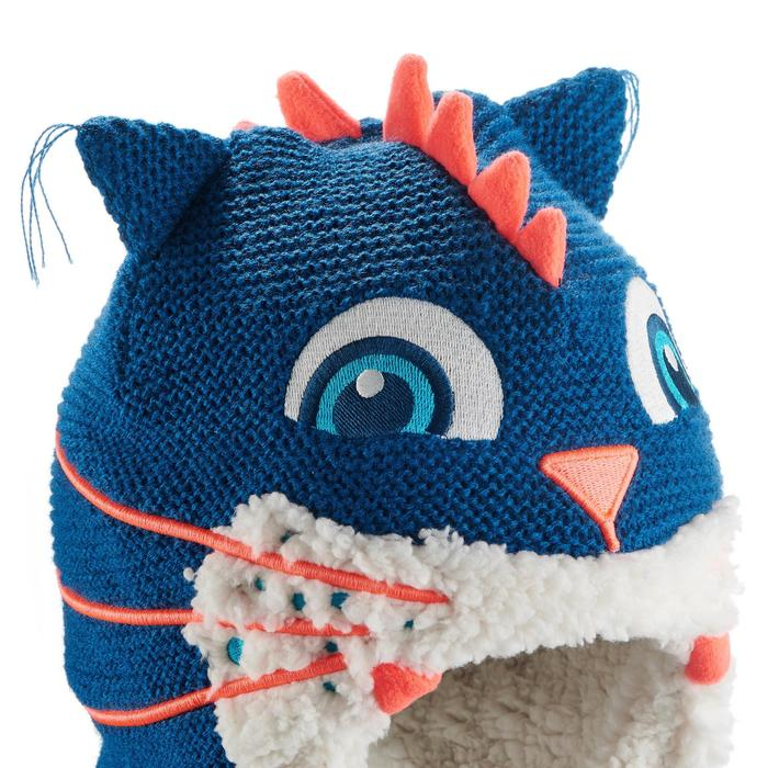 儿童秘鲁式滑雪帽MONSTERCAT - BLUE