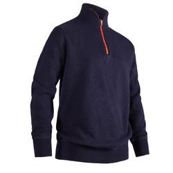 青少年 高尔夫防风套衫-海军蓝