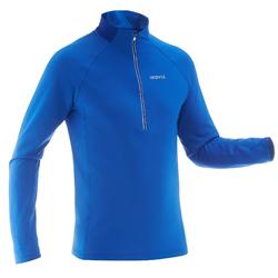 男式越野保暖滑雪 T 恤XC S T-S 100 - Blue