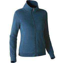 500 Women's High-Neck Gym Stretching Jacket - Blue