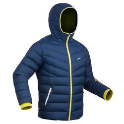 男式滑雪羽绒夹克Ski-P 500 Warm - Blue