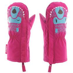 婴儿雪橇保暖手套 -粉色
