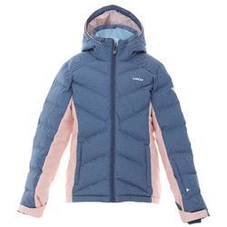 儿童滑雪夹克WARM 500 - BLUE AND PINK