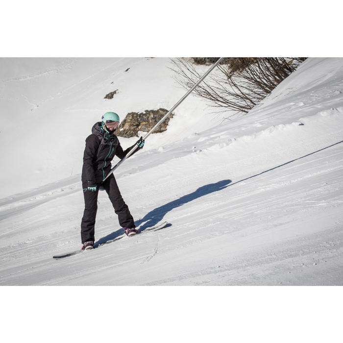 女式单板滑雪裤SNB PA 500 - Black