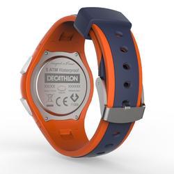 W200 男士跑步运动手表-蓝色和橙色