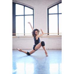 女式现代舞和街舞护膝垫 - 黑色