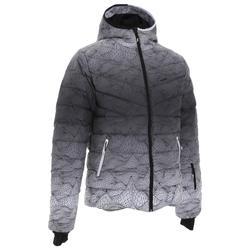 男式滑雪羽绒夹克Ski-P 500 Warm - White Black