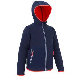 航海运动双面保暖防泼水耐用青少年抓绒衣 外套 TRIBORD Reverse 500
