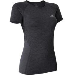 KIPRUN 女式亲肤透气跑步T恤 -黑色