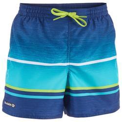 青少年短款冲浪裤100 - Pacificsunset Green