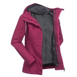 TRAVEL 100 女式三合一徒步旅行夹克 粉色