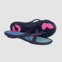 女式泳池拖鞋 - BLUE GREEN