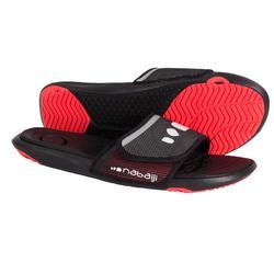 男式泳池拖鞋 SLAP 900 SOFT BLACK RED