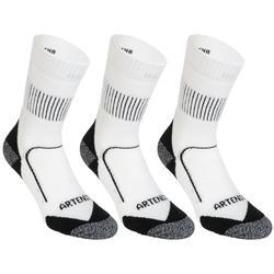 成人高帮运动袜RS900 三双装-白