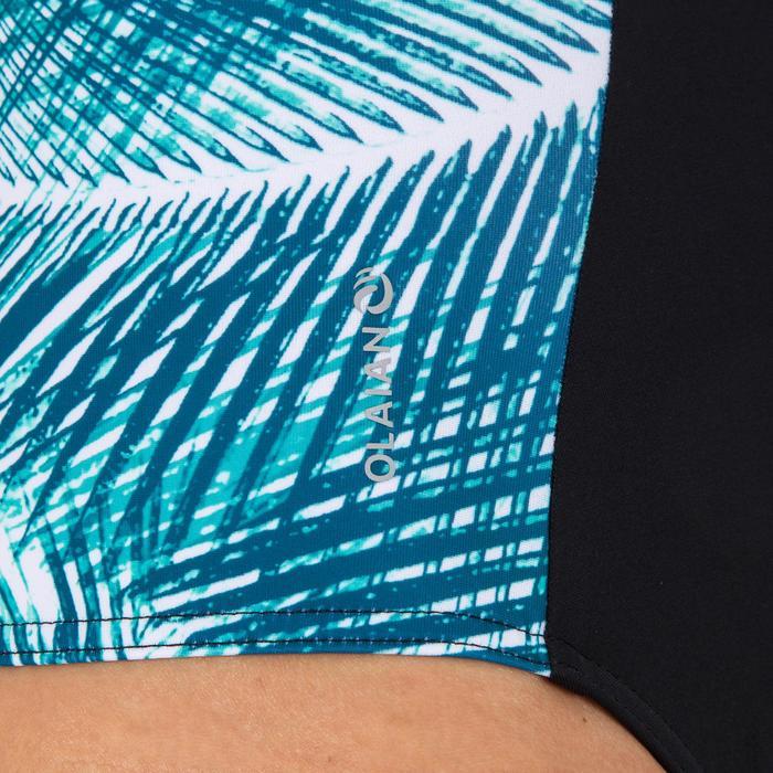 带背部拉链的全覆盖泳衣的女式连体泳衣