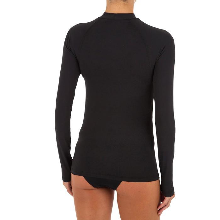 女式冲浪长袖保暖防晒T恤 黑色