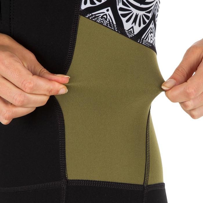 女式短款长袖冲浪服, 前拉链