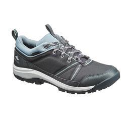 郊野徒步鞋-女士-防水款-黑/粉蓝 | NH150
