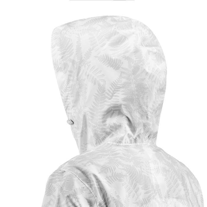 女式郊野徒步防水夹克-白色丨NH100 RAINCUT