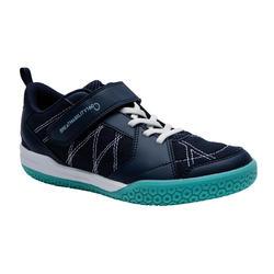 青少年羽毛球鞋BS 160 深蓝色 绿色