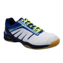 男式轻量型羽毛球鞋 白色 蓝色