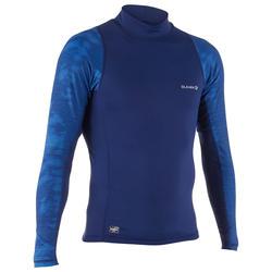 男式冲浪长袖防晒T恤500 - Cosmos Blue