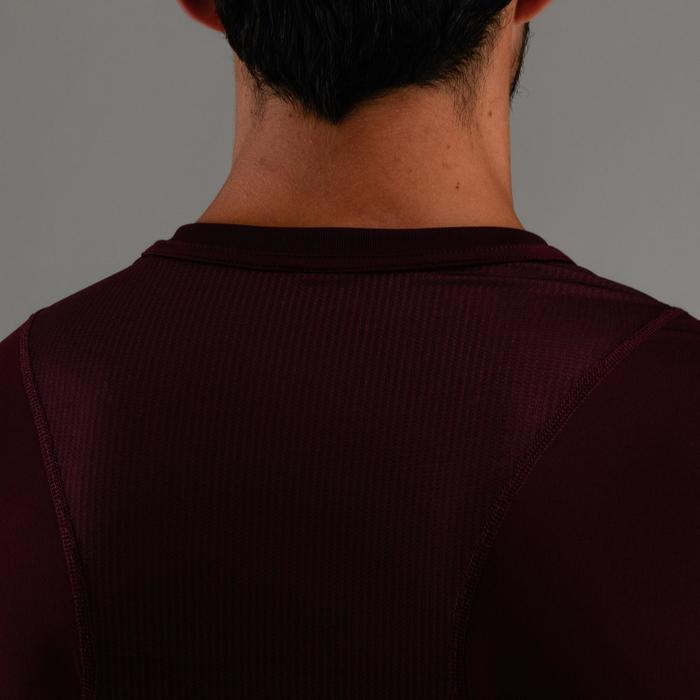 FTS500 有氧健身T恤 - 暗红色印花