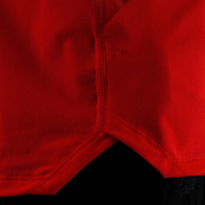 FTS 500 有氧健身运动 T 恤 - 红色印花