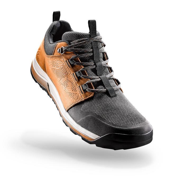 男式郊野徒步鞋-棕色丨NH500