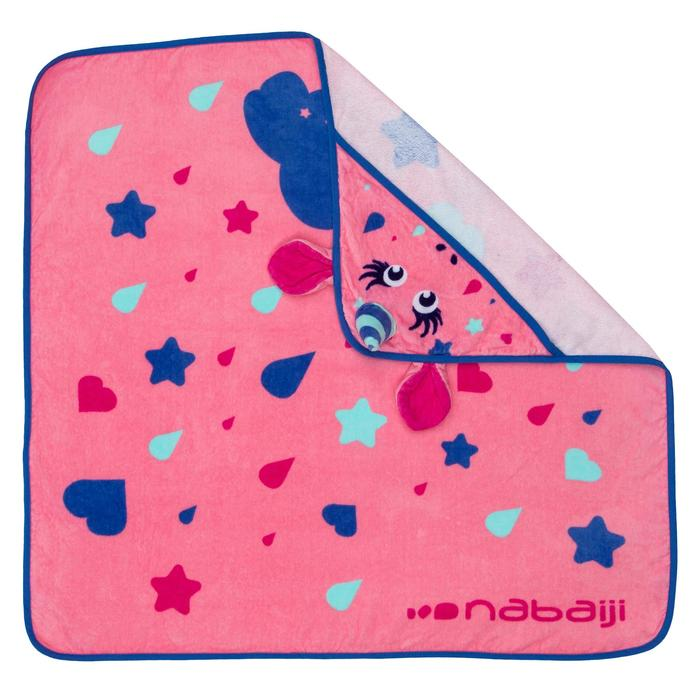 婴儿毛巾带风帽pink unicorn print